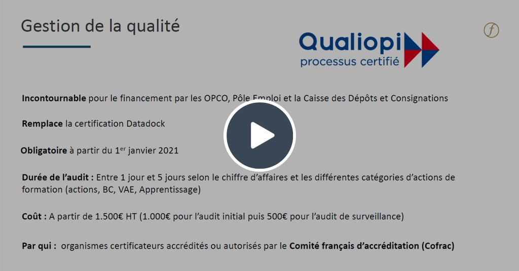 Replay webinar centre de formation